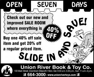 Union River Book & Toy Jan. 17